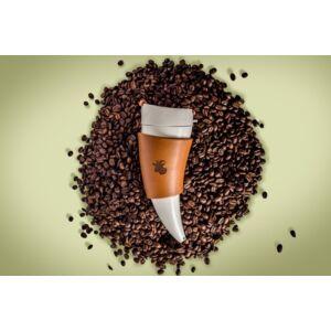 goat mug nagy barna kávé