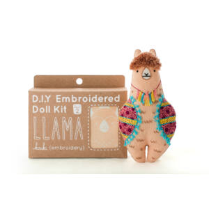 DIY Llama Embroidery Kit