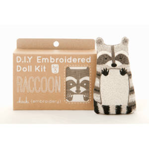 DIY Racoon Embroidery Kit