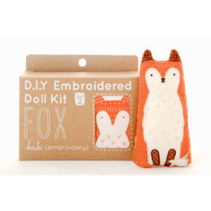DIY Fox Embroidery Kit