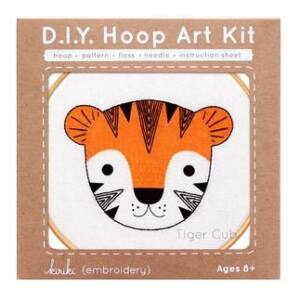 DIY Tiger Cub Hoop Art Kit