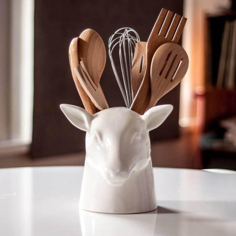 szarvas konyhai eszköztartó