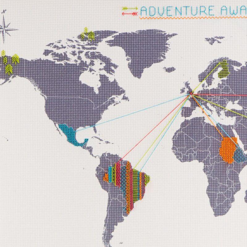 A tervszövő világtérkép