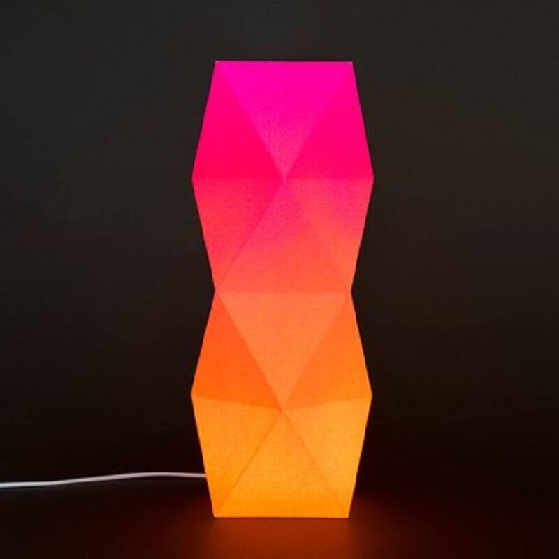 Torony lámpa narancs-rózsaszín