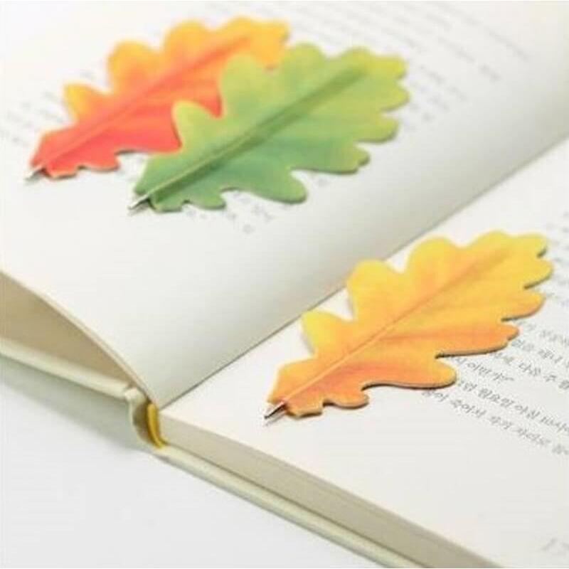 Tölgyfa levél Könyvjelző-toll